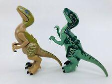 Lego Jurassic World Velociraptor Delta Raptor 75917 Mini-Figures Lot of 2