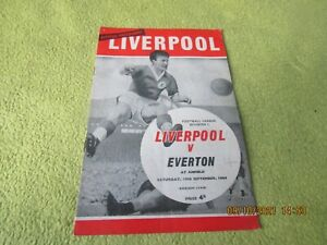 Liverpool v Everton - League Division 1 match in 1964/65 season at Anfield