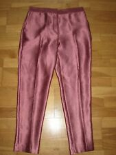 NEXT Dark Salmon Pink Tailored Tapered Crop Trousers Size 12 XL BRAND Nes