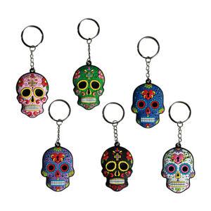 Schlüsselanhänger Gummi Totenkopf Skull Calavera de Dulce Tag der Toten Farbwahl
