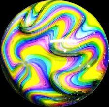 "Hot House Glass Mint Pocket Marble RAINBOW RIPPLE Dichroic Handmade .72"" Signed"