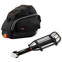 Ibera Bike Mini Trunk Bag Commuter Storage & Rear Cargo Rack Combo NEW BA6RA6