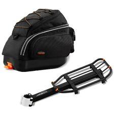 Ibera Bike Trunk Bag Rear Carrier Mini Combo Seat Post Mounted Rack Commuter Bag
