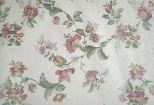Pink & Gold Satin Flowers White Wallpaper by Sunworthy 5581056