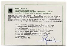 1948 REPUBBLICA CARTOLINA POSTALE 8 LIRE+COMPLEMENTARI CAMPOLONGO C/4700