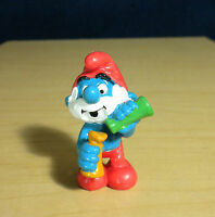 Smurfs Lab Papa Smurf Glass Bottles 20164 Magic Potions Figure Vintage Figurine
