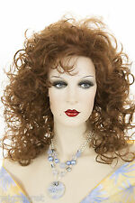 Auburn Red Long Medium Curly Wigs