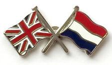 united kingdom netherlands  lapel badge friendship union jack Dutch Amsterdam