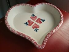 Chaparral Heart Shaped Stoneware Speckled Edges Casserole Baking Dish, A1