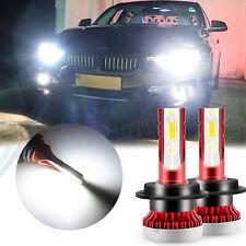 H7 80W LED Headlight High Beam Bulbs Conversion Kit Super White 6000K For VW BMW