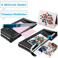 4 Blades Multifunction Double Sided Rotary Cutter Guillotine Paper Trimmer