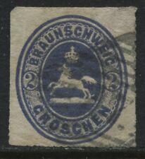 Brunswick 1865 2 groschen ultra used (JD)