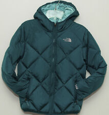 The North Face Fashion Youth Girl Down Reversible Jacket Teal Green M 10/12 $160