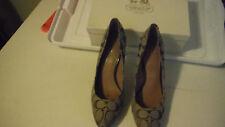 Coach Signature Khaki Brown Womans Shoes size 10b