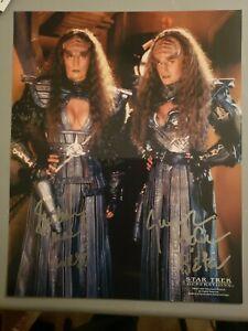 Barbara March & Gwynyth Walsh - Star Trek Generations autograph 8x10 photo
