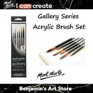 Mont Marte Gallery Series Acrylic Paint Brushes Artist Painting Brush Set Taklon
