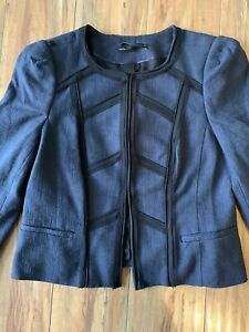 EUC White House/Black Market Blazer Navy/Black Sz 12P