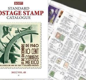 Mexico SCRAP 2022 Scott Catalogue Pages 391-490