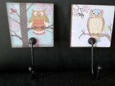 childrens coat hook owls animals birds key hanger