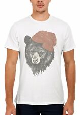 Bear with Beanie Hipster Cool Funny Men Women Vest Tank Top Unisex T Shirt 606
