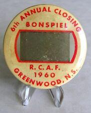 RCAF Royal Canadian Air Force 6th Annual Closing Bonspiel Greenwood N.S Tag 1960