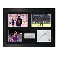 Authentic signed memorabilia Lionel Messi Blues in Barcelona Photo A4 Frame