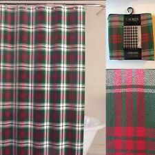 "🎄Ralph Lauren Plaid Red, Green and White Shower Curtain 🎄70"" X 72"""