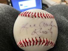 Lee Aaker Rusty Rin Tin Tin Tv Show Autograph Signed Baseball