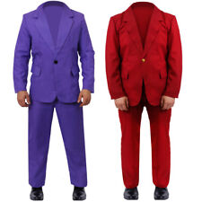 BURGUNDY OR PURPLE SUIT HALLOWEEN COSTUME CLOWN COSPLAY OUTFIT 2019 FANCY DRESS
