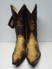 New Men'S Real Python Snake Skin Genuine Leather Cowboy Boots Rodeo Western C106