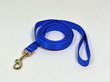 """NEW Saf-T-Paw 6' Long Dog Nylon Leash Lead Blue Small 5/8"""" W"""