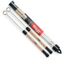 Stagg Telescopic Wire Brushes with Wooden Handle