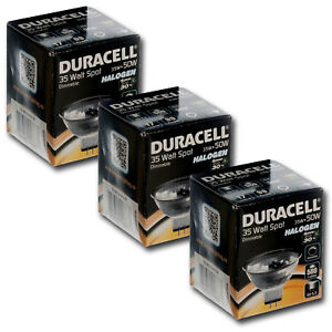 3x Duracell 35w = 50w ECO Energy Saving MR16 Halogen Downlight Spotlights 12v