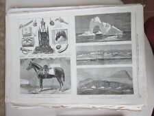 Vintage Print,ARCTIC SCENERY PANDORA EXPEDITIN,Brigade,Nov15,1875,Daily Graphic