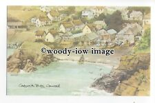 DS123 - Cornwall - Cadgwith bay from the Cliffs. Artist - David Skipp - Postcard