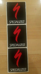 SPECIALIZED S-LOGO STICKERS-3 pack-  black & red -World Champion - SHIPS ASAP