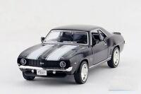 1:36 Scale 1969 CHEVROLET Camero SS Diecast model Car Pullback Black 1/36 12cm