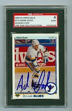Adam Oates Autographed 1990-91 Upper Deck Hockey Card #173 SGC Authentic Encased
