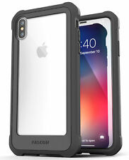 iPhone XS Max Clear Protective Case Cover, Full Body Transparent (Falcon) Grey