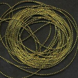 5 Mtrs x 1mm   GOLD CORD/ STRING ~ GREAT FOR EMBELLISHMENTS