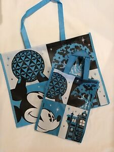 New Disney World All 4 Parks Reusable Shopping Tote Bag Medium And Small