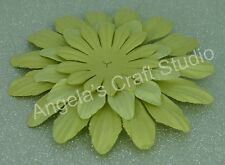"""9 x """"PALE GREEN"""" Paper Flower Petals by Green Tara - 3 Sizes- Scrapbooking Cards"""