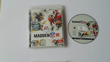 Madden NFL 10 (Sony PlayStation 3, 2009) disk and case ps3