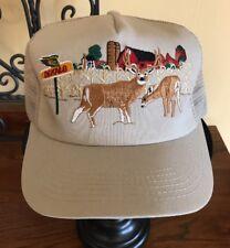 Vintage DeKalb Seed Deer WIldlife Advertising Snapback Trucker Hat Made in USA
