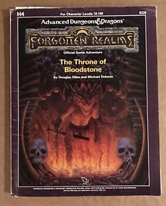 H4 The Throne of Bloodstone - AD&D(1e) Adventure for levels 18+ TSR 9228