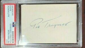 Pie Traynor Signed Auto Cut Signature PSA/DNA Pittsburgh Pirates