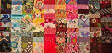 "100 Asrt. Squares, 4 "" Fabric Scraps charm packs- Quilting-Crafts*"