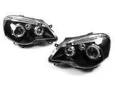 LED Angel Eyes Scheinwerfer für VW Polo 9N 9N3 in schwarz 05-09