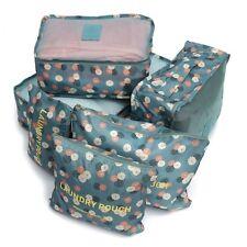 6Pcs Clothes Underwear Socks Packing Cube Storage Travel Luggage Organizer Bag