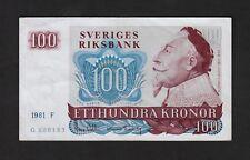 F.C. SUECIA SWEDEN , 100 CORONAS 1981 , MBC+ ( VF+ ) , P.54c .